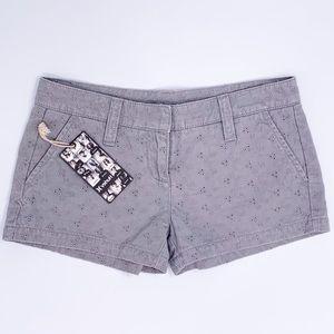 Hurley floral gray shorts